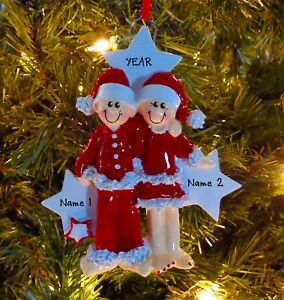pj lovers couple our first christmas family 2 personalized
