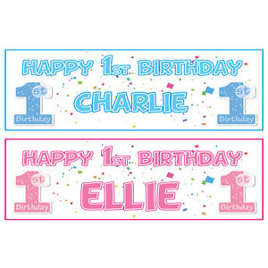 2-PERSONALISED-HAPPY-1st-BIRTHDAY-BANNERS-BOY-OR-GIRL-FIRST