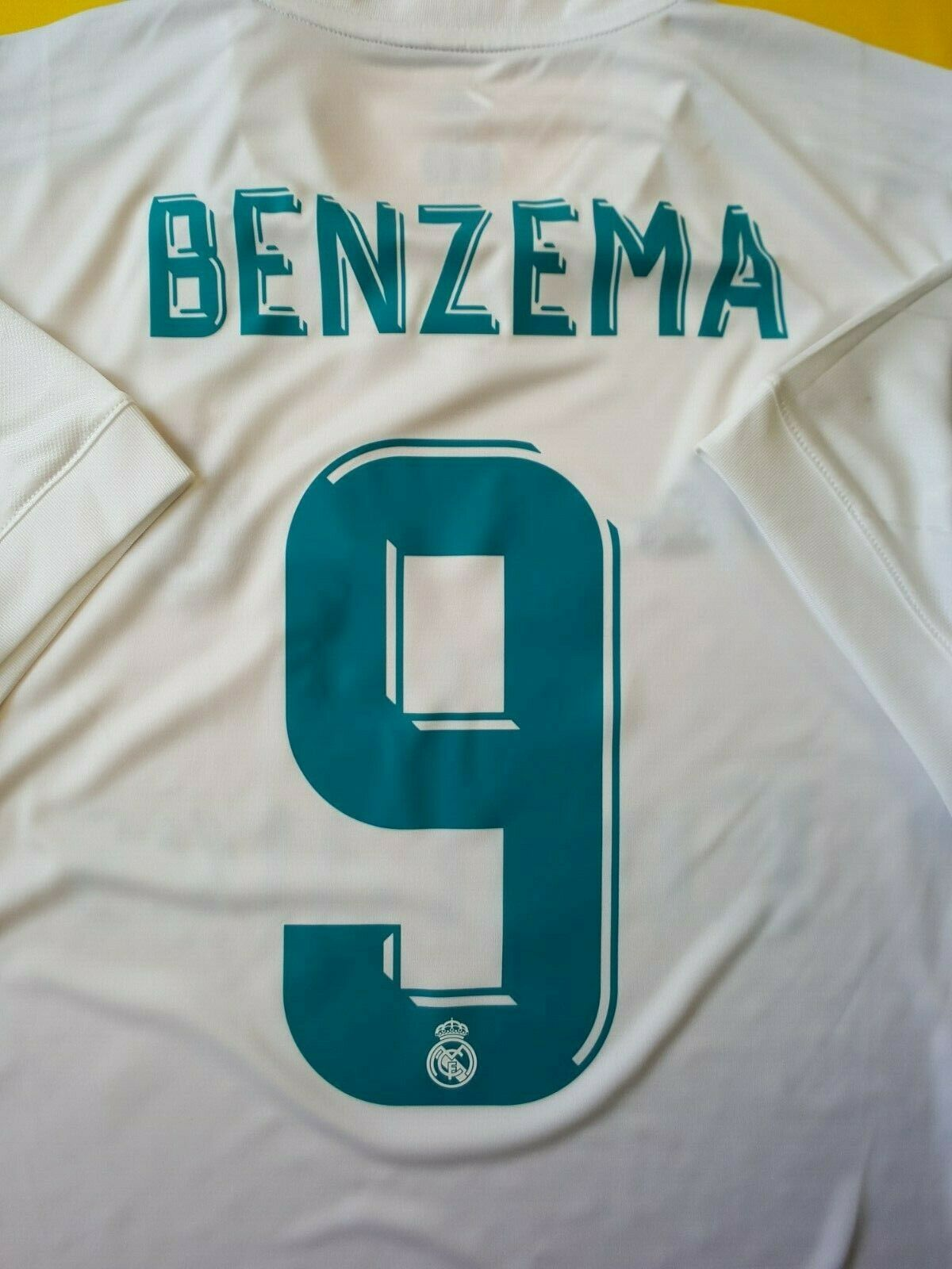 3ab502dde ... 5+ 5 5 5 Benzema Real Madrid jersey small 2017 2018 home shirt soccer  adidas ...