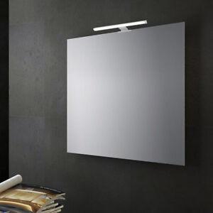 Specchio da bagno a filo lucido senza cornice con lampada - Specchio contenitore per bagno ...