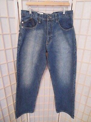 Men's DELF Jeans W34 x L34 Blue #6208 100% Cotton NEW