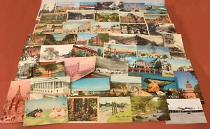 Lot-of-43-Vintage-Postcards-USA-amp-Foreign-Several-Early-20th-Century