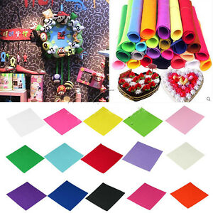 Non-woven Felt Fabric Kids DIY Craft 1mm Thick Square Scrapbooks 50*40cm J