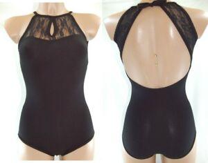 Donna: Abbigliamento Sport E Viaggi Responsible Body Particolare Con Inserto In Merletto Frontale A Goccia Dv0149 Danza Classica Street Price