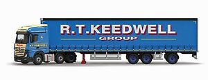 Corgi Cc15808 1/50 Mercedes Mp4 Trailer Curtainside Keedwell - Nouveau Stock