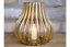 Metal-Votive-Candle-Holder-Gold-Hurricane-Lantern-Style-Small thumbnail 2