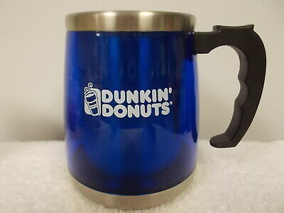 Dunkin Donuts Blue Plastic & Stainless Steel No Skid Auto Travel Coffee Cup Mug | eBay