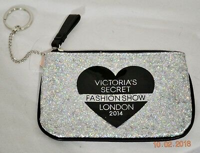 Victorias Secret Bling Fashion Show Key Ring Coin Change Purse  Bag Wallet NWT