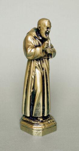 Statua Padre Pio 15-20cm in resina made in Italy effetto bronzato