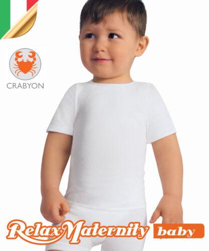 MAGLIETTA BIMBO T-SHIRT CRABYON RelaxMaternity Baby INTIMO 6-36 MESI NEONATO