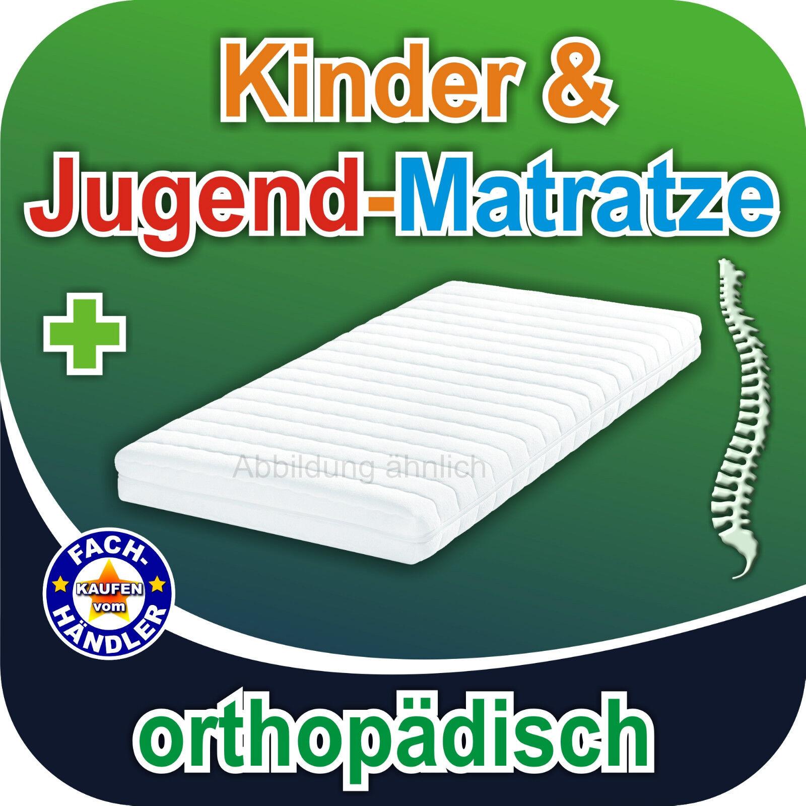 Jugendbett Kaltschaummatratze KJ-14 90x200cm, orthopädisch, Bezug waschbar 60°C