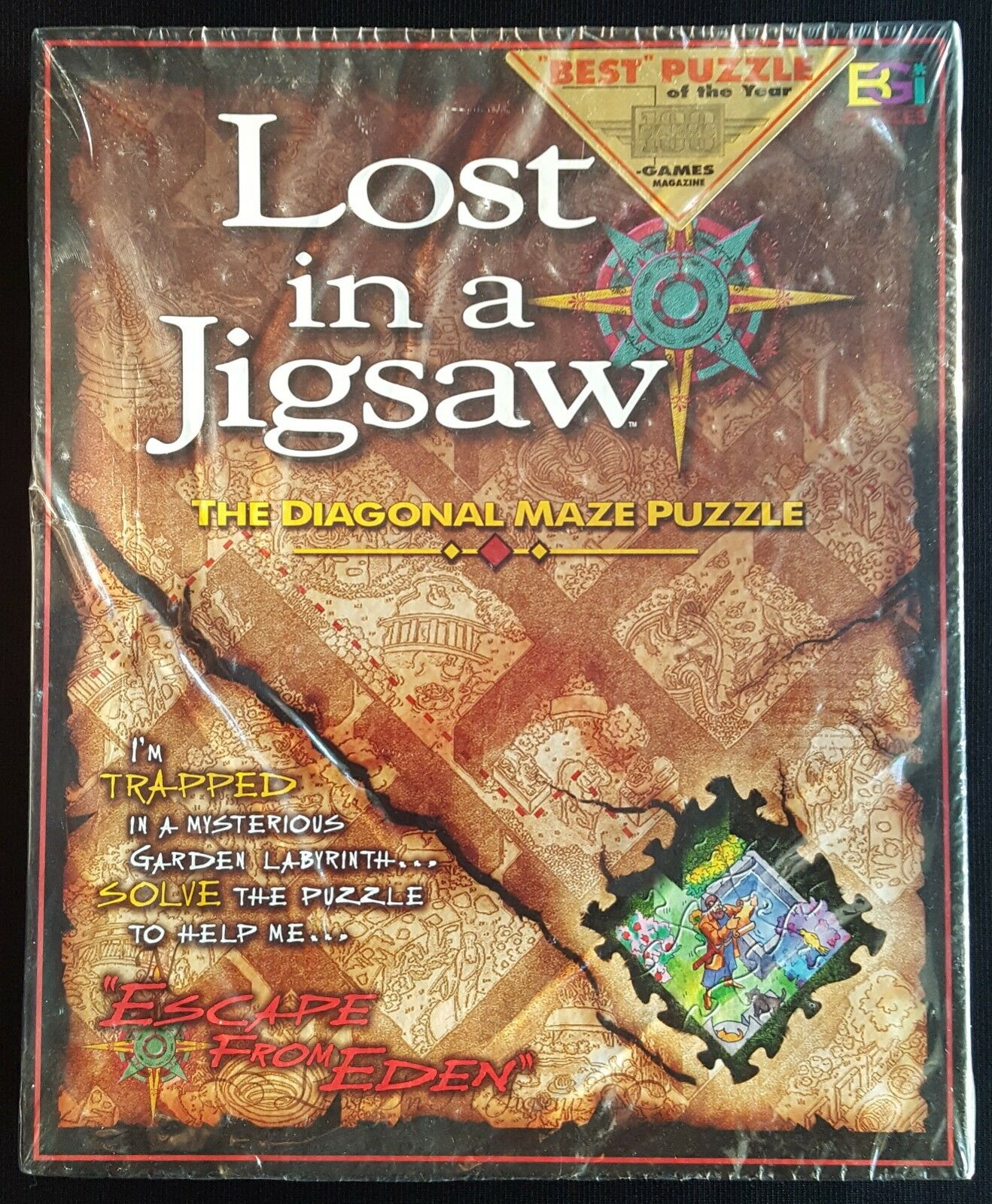 Lost In A Jigsaw (The Diagonal Maze Puzzle Escape From Eden) By BGI - 1997 - NEW