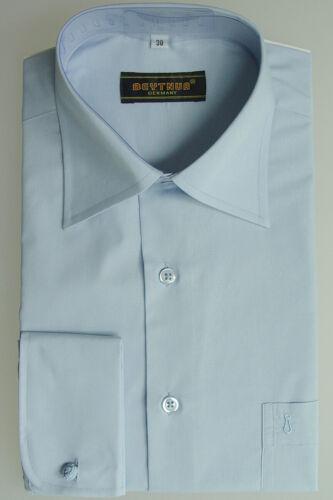Hellblau Größe 41 Herren Hemd Kentkragen mit Umschlagmanschette
