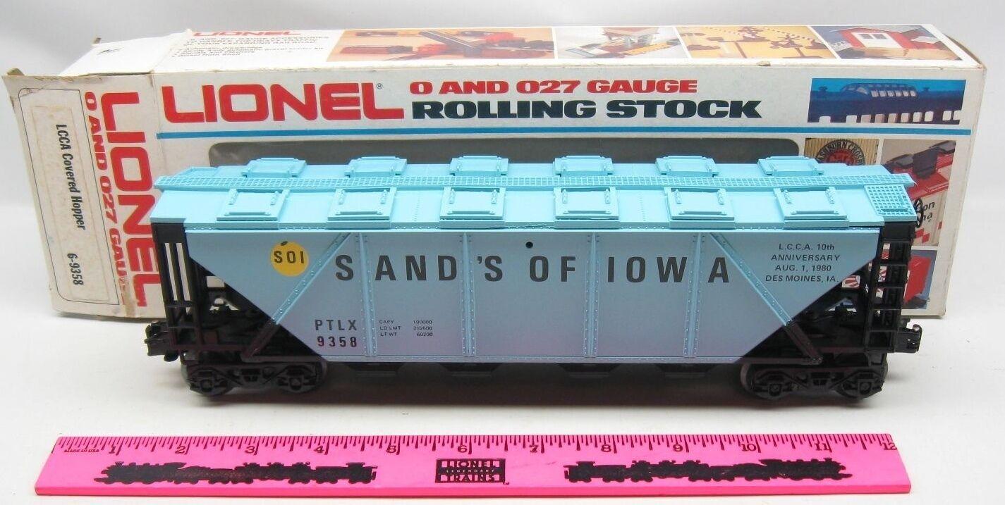 Lionel 6-9358 LCCA Cover Hopper Sand's of Iowa