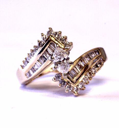 14k yellow gold .67ct marquise diamond engagement