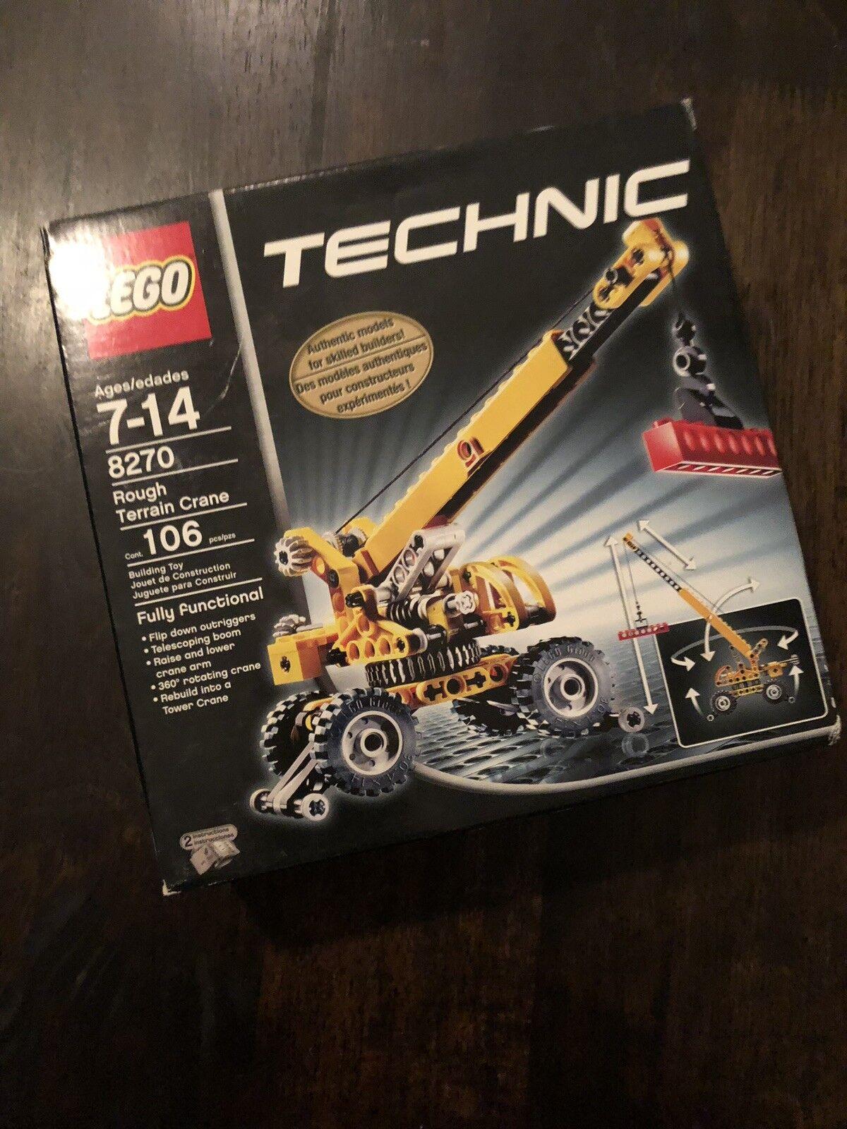 Lego Technic Rough Terrain Crane  8270 - New, Factory Sealed, Retirosso