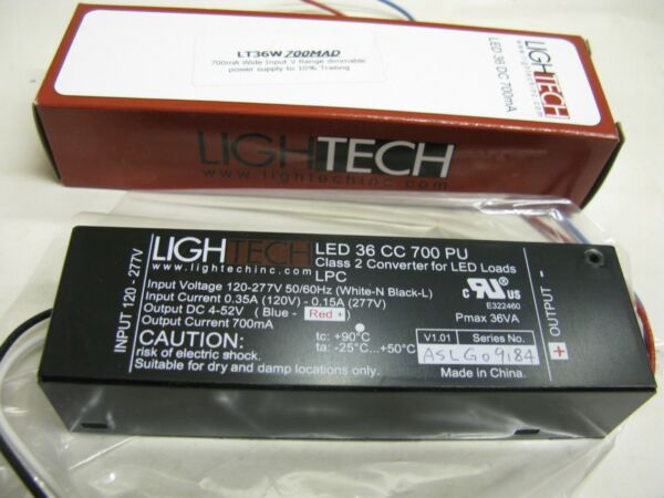 1 X Lightech A Led 36 Cc 700 Pu Regolabile Convertitore Di Classe 2 Per I Carichi Led Uk #ds58