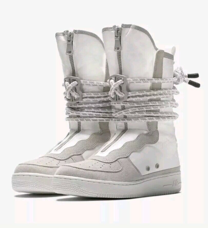 Nike Air SF AF1 Hi Men 10.5 Special Field Boots White Grey AQ0107-001 NEW