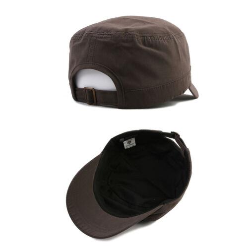 Unisex Mens Womens Mqum Blank Plain Military Cadet Cap Trucker Adjustable Hats