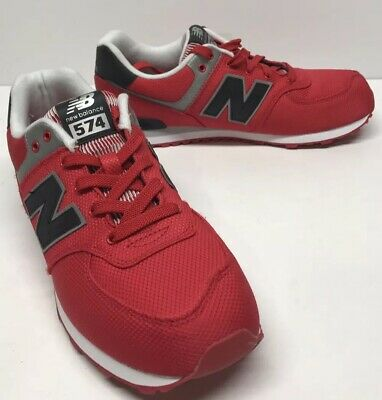 Red//Black New Balance Shoes Kids Grade School Sneakers KL574F5G