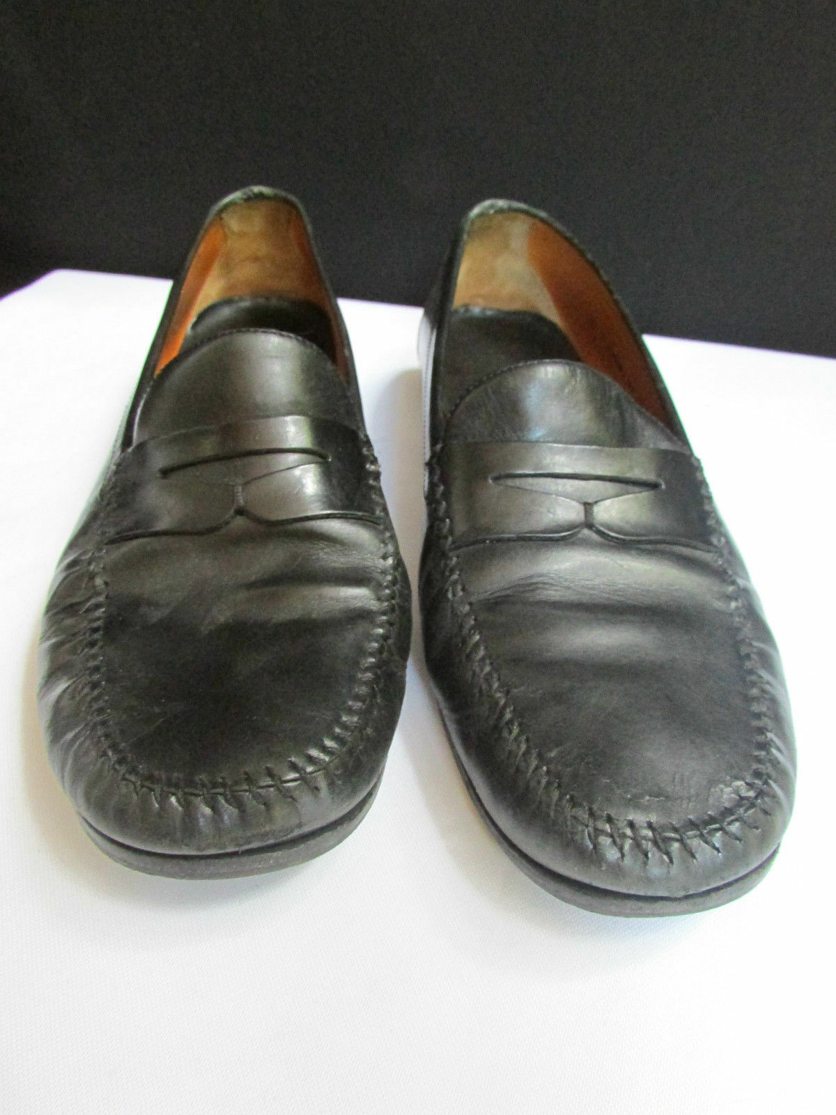 A COLE HAAN MEN BLACK CLASSIC LOAFERS WORK TERENDY SHOES LEATHER 10