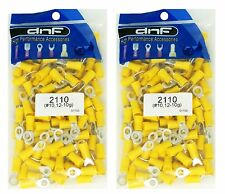 (200 PACK) 12-10 GAUGE YELLOW RING TERMINALS ELECTRICAL WIRE CONNECTORS #10