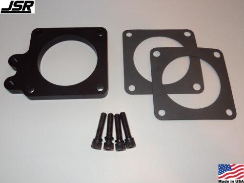 86-93 Mustang GT LX 5.0 Throttle Body EGR Spacer Delete Plate Kit 1//2 80mm BLACK