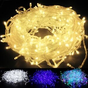 100-200-600LED-Electric-Corded-Light-Outdoor-Fairy-String-Christmas-Garden-Light