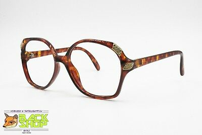 Saphira Vintage Eyewear Frame, Animalier Brown Semitransparent Acetate Strass