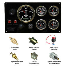 Detroit Diesel Engine Instrument Panel, 5 Marine Gauges & Sending Units Kit