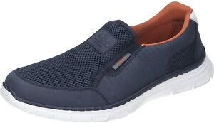 Details zu Rieker Herren Schuhe Herren Slipper blau Textil NEU