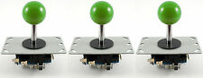 3 x Sanwa Style Ball Top Arcade Joysticks, 8 Way (Green) - MAME, JAMMA