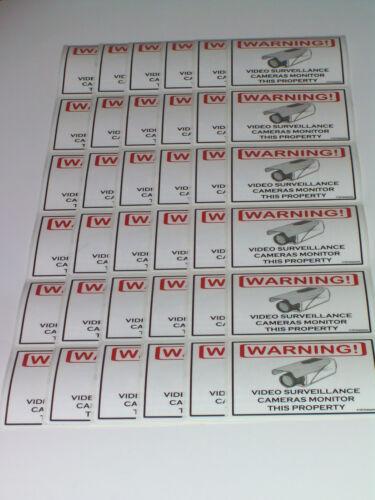 Security CCD Cameras CCTV Camera Warning Sticker 36 Lot