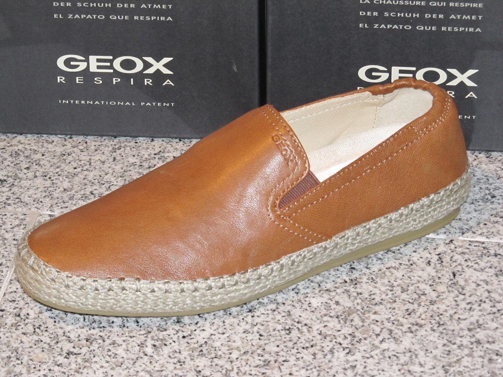 Geox Respira Slipper Schuhe  Leder Herren 42 43 44 45 46 Neu