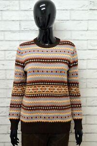 Cardigan-Donna-STEFANEL-Taglia-L-Maglione-Pullover-Sweater-Woman-Vintage-Lana