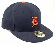 Detroit Tigers New Era 5950 Baseball Cap Cool Base On Field Blue Fitted 7 3/4
