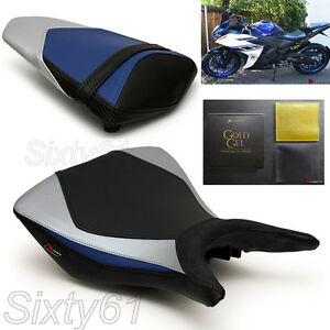 Pleasant Details About Yamaha R3 Seat Covers 2015 2016 2017 2018 Black Blue Front Rear Luimoto With Gel Lamtechconsult Wood Chair Design Ideas Lamtechconsultcom