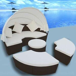 vidaXL-Outdoor-Lounge-Set-2-in-1-Poly-Rattan-Wicker-Sunbeds-Daybed-Garden
