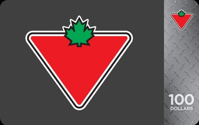$100 Canadian Tire Gift Card for $90!