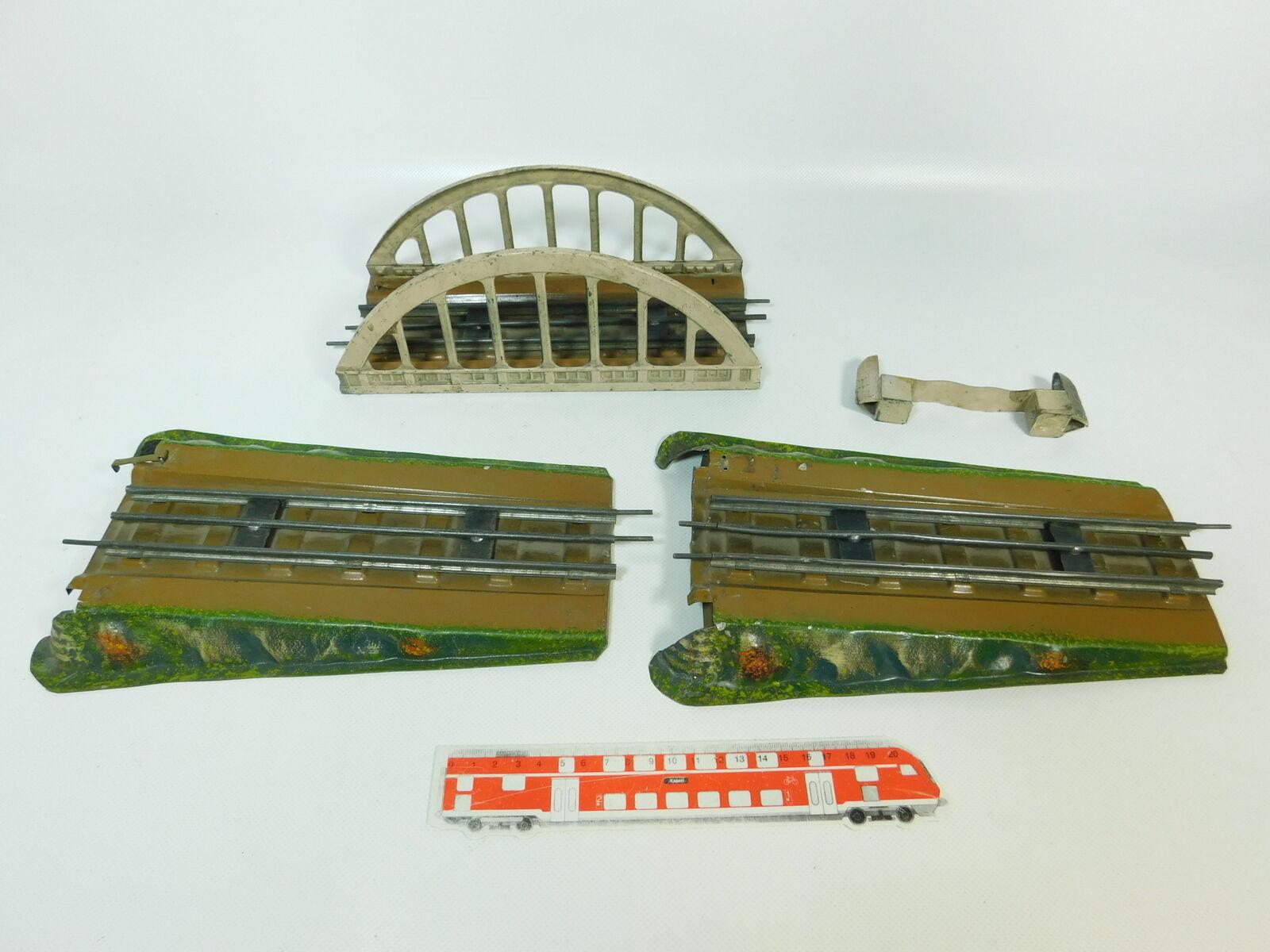 BQ229-2   3 x   Traccia 0 Rampa / Arch Bridge per Elettr.