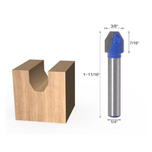 1//4/'/' Shank Woodworking V Groove Router Bit 90 Deg Engraving Milling Cutter
