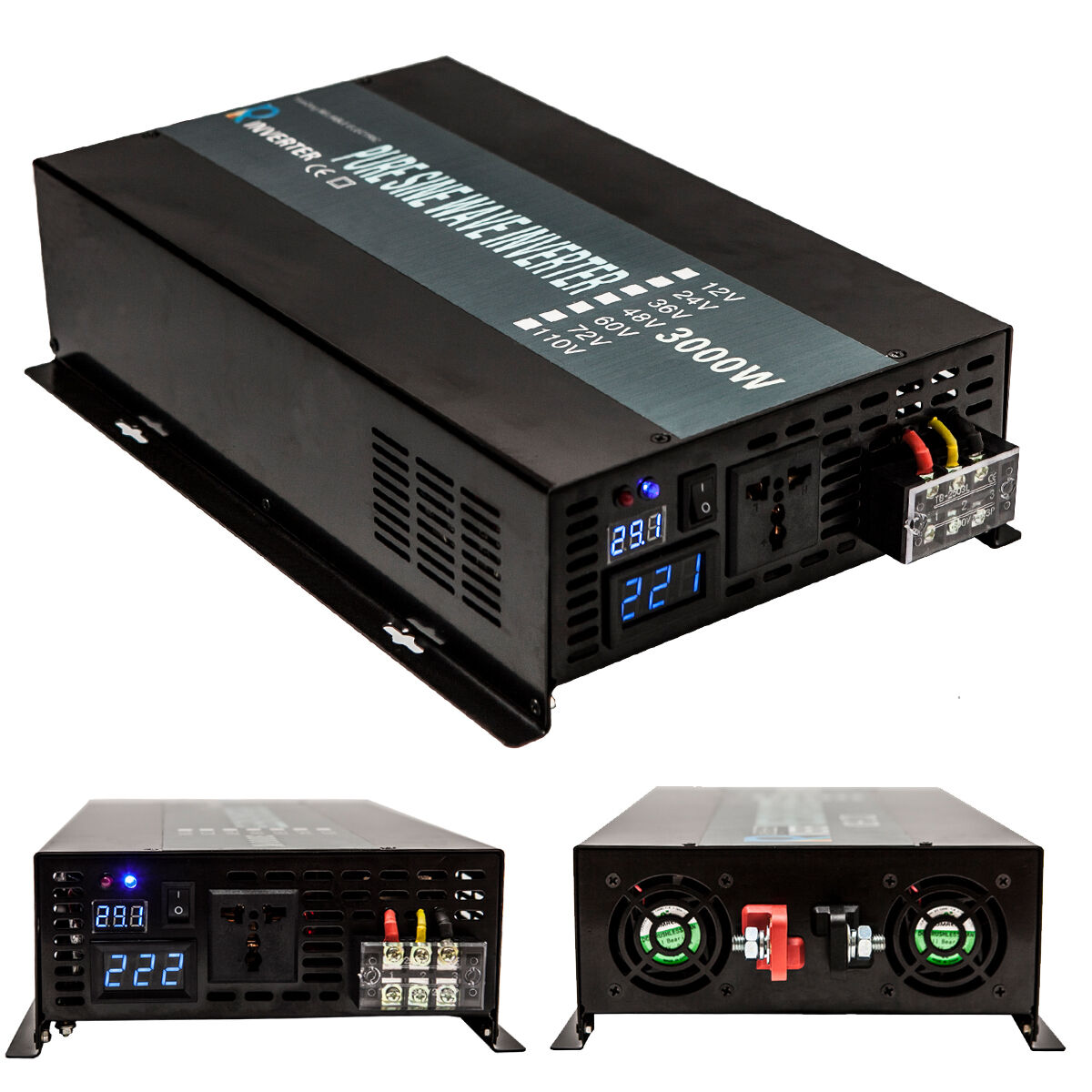3000 Watt Car Power Inverter 12 24 Volt Dc To 120 220 Ac Pure Vdc Vac Circuit Norton Secured Powered By Verisign
