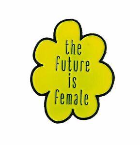 Details about The Future is Female - Enamel PIN, Original Artwork by Matt  Stewart, 1 25