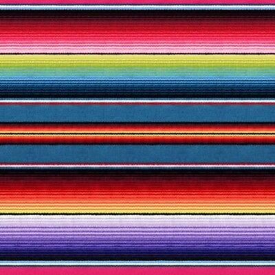1 yard Fiesta by Elizabeth's Studios Mexican Blanket Stripe 100% Cotton Fabric