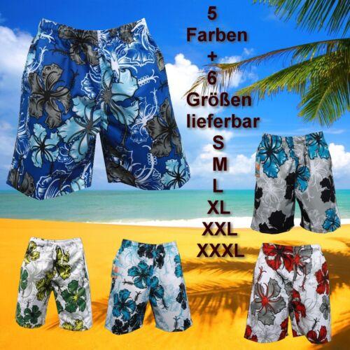 BADE SHORT SHORTS BERMUDA BADEHOSE Blau Grau BADESLIP BOXER in S M L XL XXL XXXL