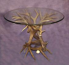 REAL ANTLER WHITETAIL / MULE DEER TABLE BASE CHANDELIER LAMPS