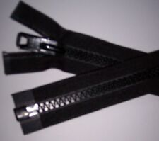 "#10 YKK Marine Zippers BLACK Many Sizes  6"" to 240""  Boat Tops, Outdoors, USA"