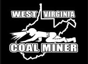 West-Virginia-Coal-Miner-Decal-crawling-miner-in-WV-state-car-vinyl-sticker