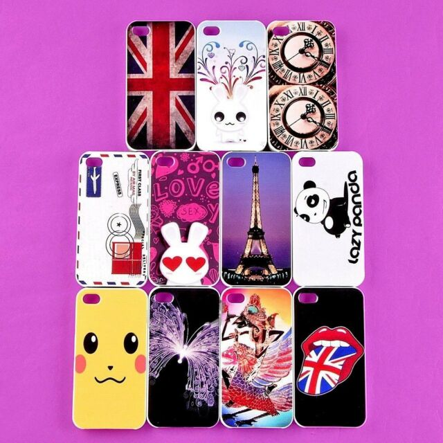 Wholesale Lot Cool Back Skin Case Cover Shell Protector For Apple i-phone 4 4S