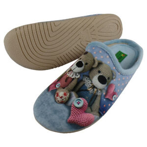 Hausschuh Pantoffel Teddybär Herz A11835A - EU 36-42 (38) Alberola SmnOKaur